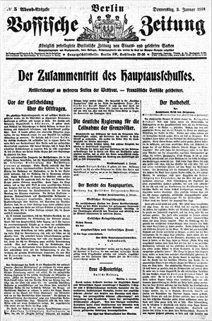 Vossische Zeitung vom 03.01.1918