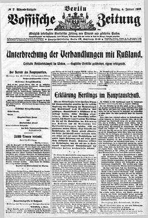 Vossische Zeitung vom 04.01.1918