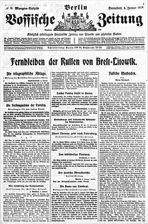 Vossische Zeitung vom 05.01.1918