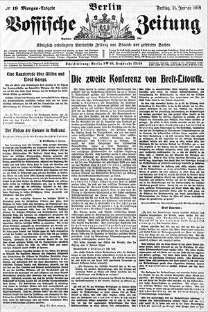 Vossische Zeitung vom 11.01.1918