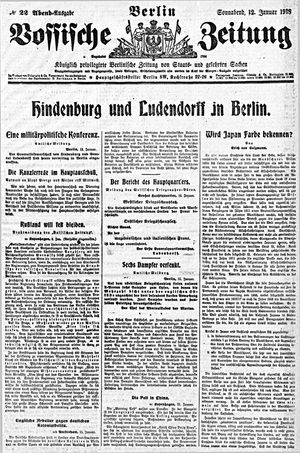 Vossische Zeitung vom 12.01.1918
