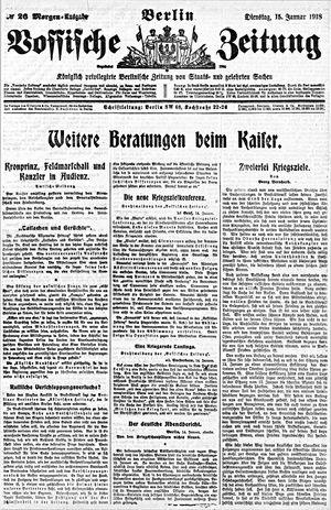 Vossische Zeitung vom 15.01.1918
