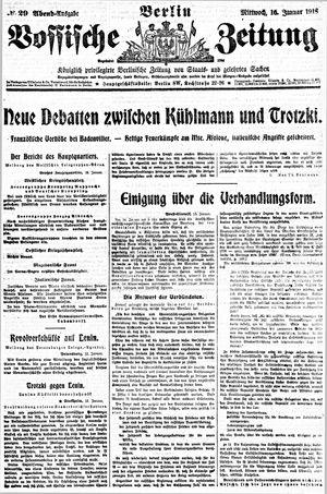 Vossische Zeitung vom 16.01.1918