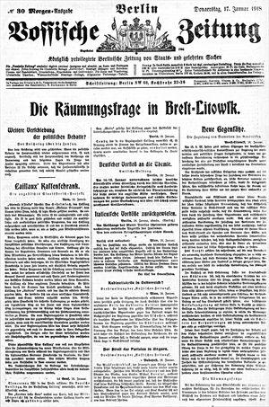 Vossische Zeitung vom 17.01.1918