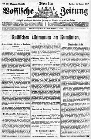 Vossische Zeitung vom 18.01.1918