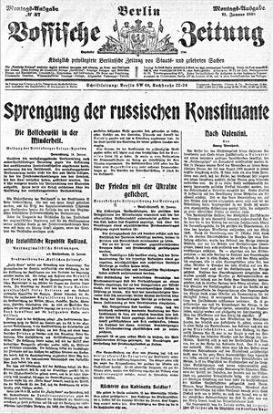 Vossische Zeitung vom 21.01.1918