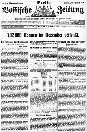 Vossische Zeitung vom 22.01.1918