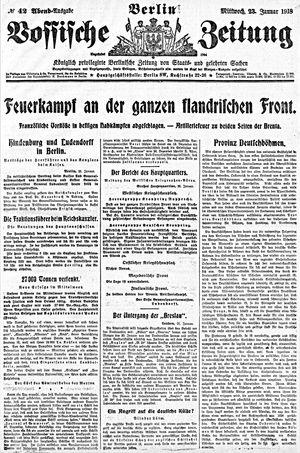 Vossische Zeitung vom 23.01.1918