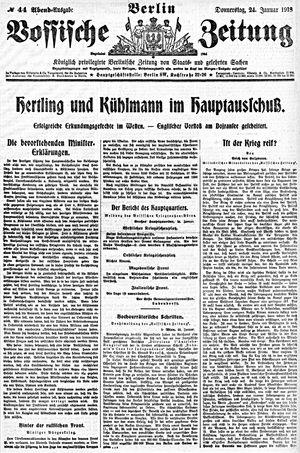 Vossische Zeitung vom 24.01.1918