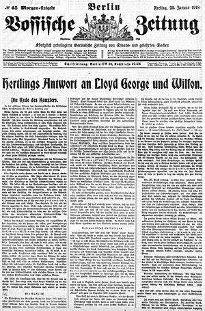 Vossische Zeitung vom 25.01.1918