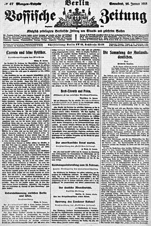 Vossische Zeitung vom 26.01.1918