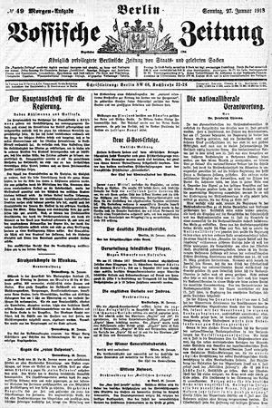Vossische Zeitung vom 27.01.1918