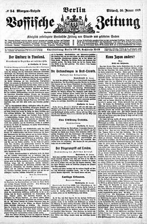 Vossische Zeitung vom 30.01.1918