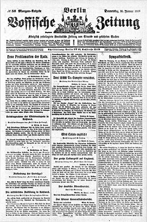 Vossische Zeitung vom 31.01.1918