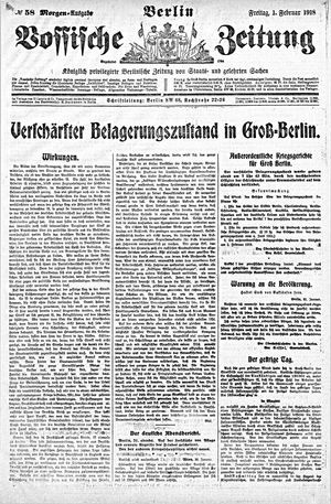 Vossische Zeitung vom 01.02.1918