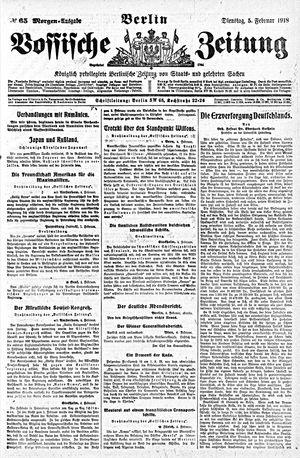 Vossische Zeitung vom 05.02.1918