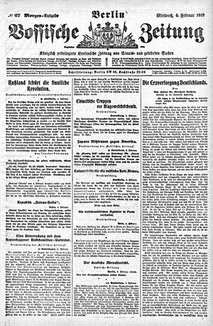 Vossische Zeitung vom 06.02.1918