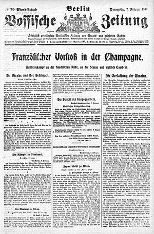 Vossische Zeitung vom 07.02.1918