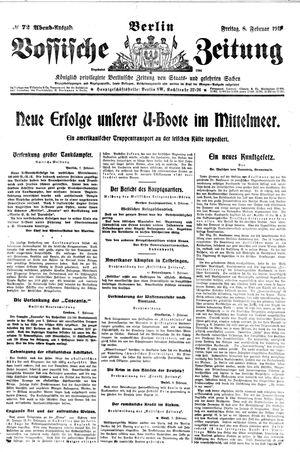 Vossische Zeitung vom 08.02.1918