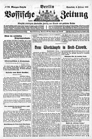 Vossische Zeitung vom 09.02.1918