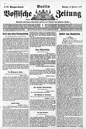 Vossische Zeitung vom 10.02.1918