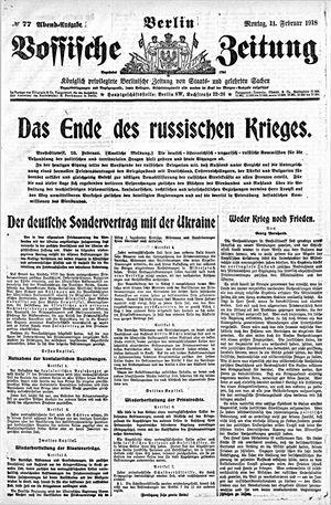 Vossische Zeitung vom 11.02.1918