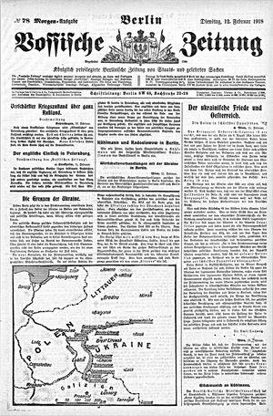 Vossische Zeitung vom 12.02.1918