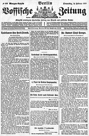 Vossische Zeitung on Feb 14, 1918