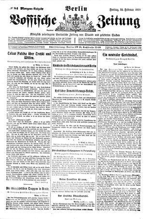 Vossische Zeitung vom 15.02.1918