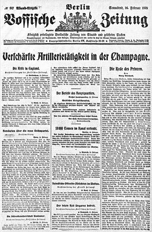 Vossische Zeitung vom 16.02.1918