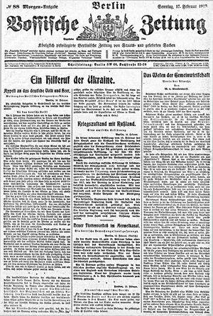 Vossische Zeitung vom 17.02.1918