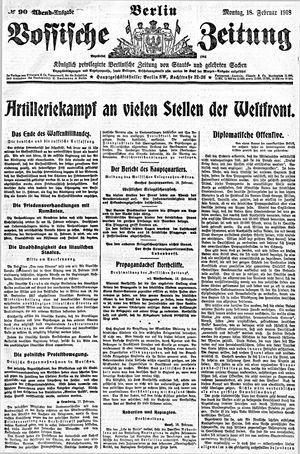 Vossische Zeitung vom 18.02.1918