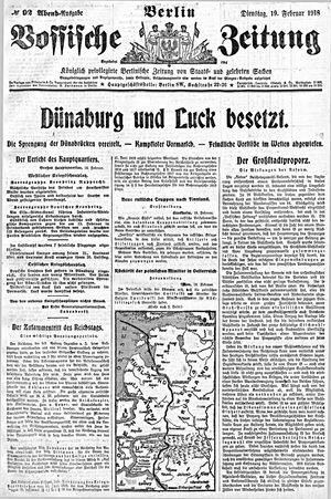 Vossische Zeitung vom 19.02.1918