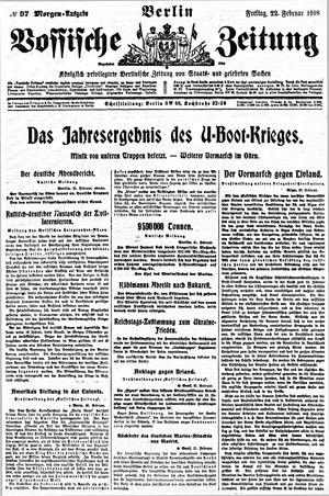 Vossische Zeitung vom 22.02.1918