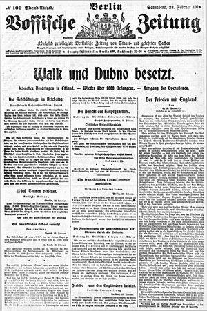 Vossische Zeitung vom 23.02.1918