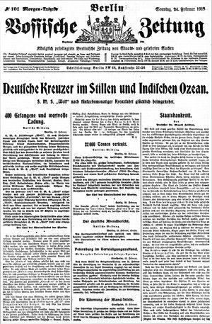 Vossische Zeitung vom 24.02.1918