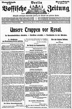 Vossische Zeitung vom 25.02.1918