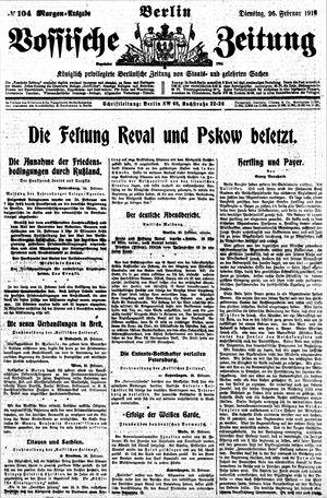 Vossische Zeitung vom 26.02.1918