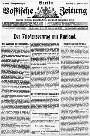 Vossische Zeitung vom 27.02.1918