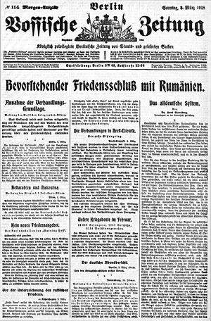 Vossische Zeitung vom 03.03.1918