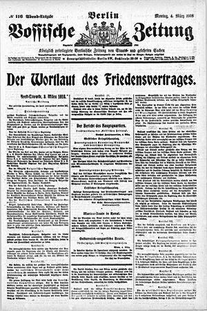 Vossische Zeitung vom 04.03.1918
