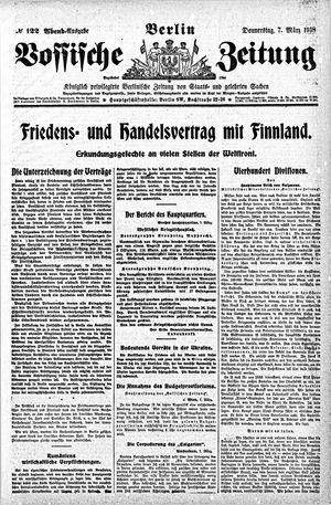 Vossische Zeitung vom 07.03.1918