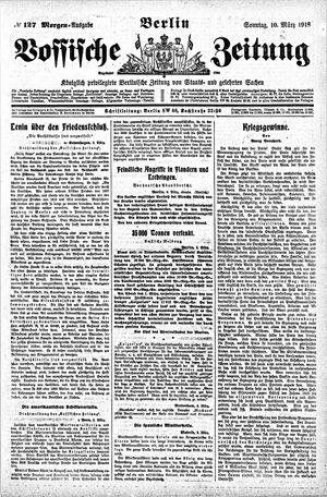Vossische Zeitung vom 10.03.1918