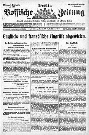 Vossische Zeitung vom 11.03.1918