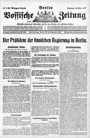 Vossische Zeitung vom 12.03.1918