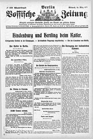 Vossische Zeitung vom 13.03.1918