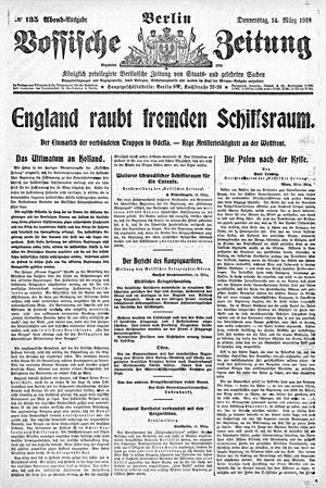 Vossische Zeitung vom 14.03.1918