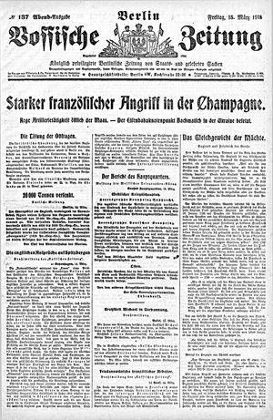 Vossische Zeitung vom 15.03.1918