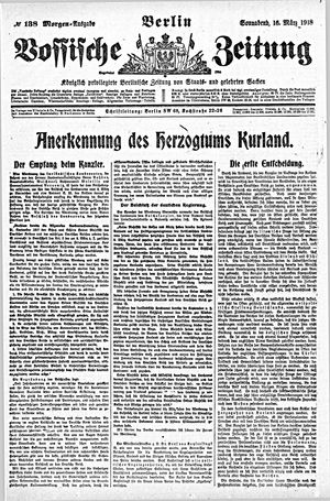Vossische Zeitung vom 16.03.1918