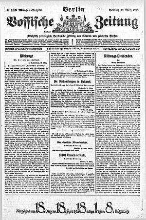 Vossische Zeitung vom 17.03.1918